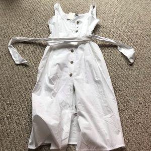 White button down dress sz 6